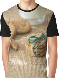 Homemade cookies and milk Graphic T-Shirt
