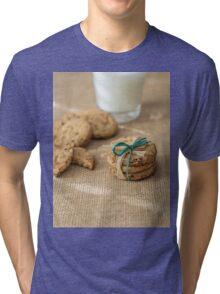 Homemade cookies and milk Tri-blend T-Shirt