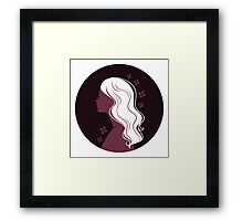 Beautiful woman's silhouette Framed Print