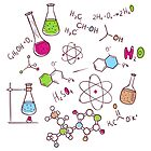 Hand draw chemistry background by SonneOn