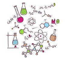 Hand draw chemistry background Photographic Print
