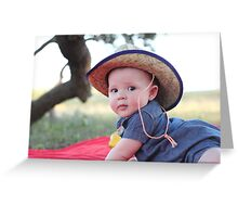 Little Country Girl Greeting Card