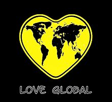 Love Global iPhone Case Black Yellow by Martin Rosenberger