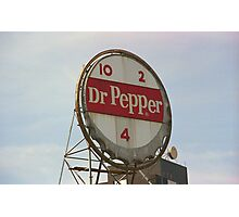 Dr. Pepper Bottle Top Photographic Print