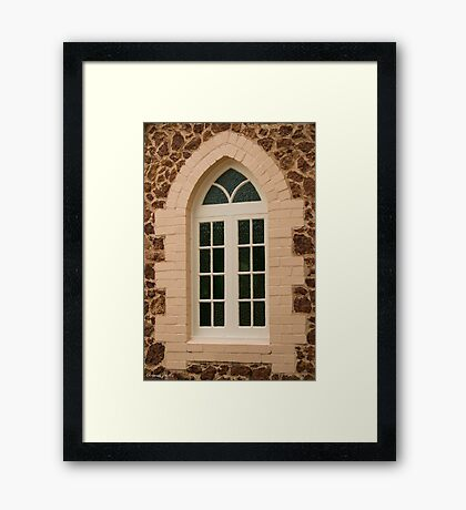 Church Window Framed Print