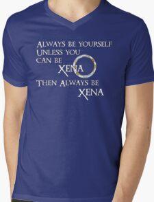 Be Xena Mens V-Neck T-Shirt