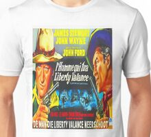 Belgian poster of The Man Who Shot Liberty Valance Unisex T-Shirt