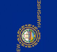 Smartphone Case - State Flag of New Hampshire - Vertical II by Mark Podger