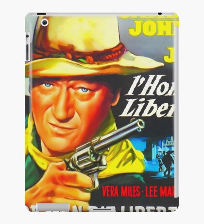 Belgian poster of The Man Who Shot Liberty Valance iPad Case/Skin