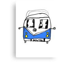 VW Camper Kids Canvas Print