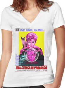 Italian Poster of Bell Book and Candle Women's Fitted V-Neck T-Shirt