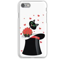cat holding a flowers iPhone Case/Skin