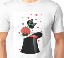 cat holding a flowers Unisex T-Shirt