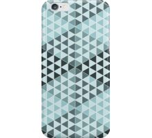 Geometric Cubes - Bold Blue iPhone Case/Skin
