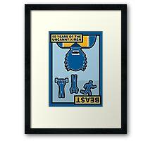 Uncanny X-Men 50th Anniversary - Beast Framed Print