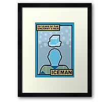 Uncanny X-Men 50th Anniversary - Iceman Framed Print