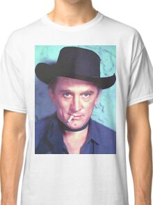 Kirk Douglas in Man Without a Star Classic T-Shirt