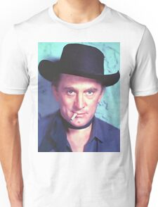 Kirk Douglas in Man Without a Star Unisex T-Shirt