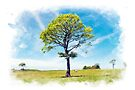 Lone Tree, Tiny Horse by Paul-M-W