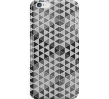 Geometric Cubes - Greyscale iPhone Case/Skin