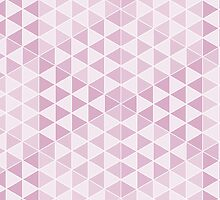Geometric Cubes - Soft Pink by Aeleina