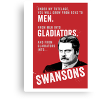 RON SWANSON Quote#4 Canvas Print