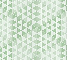 Geometric Cubes - Soft Green by Aeleina