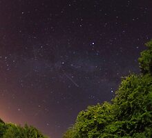 Perseid meteor shower over Wales by David Odd