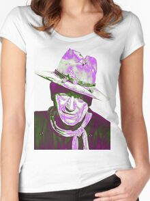 John Wayne in The Man Who Shot Liberty Valance Women's Fitted Scoop T-Shirt