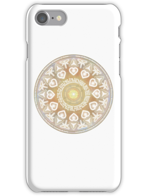 God Angel Mandala iPhone Case by Martin Rosenberger