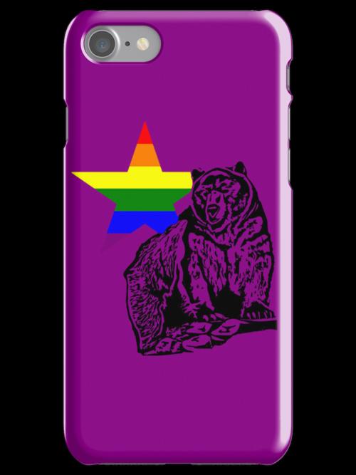 Kris Alan Apparel RAINBOW Grizzly Bear  by krisalanapparel