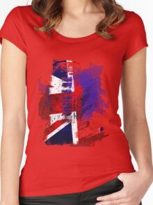 Phone Box Grunge T Women's Fitted Scoop T-Shirt