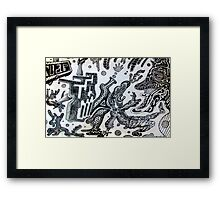Tripping On A Bar of Soap Framed Print