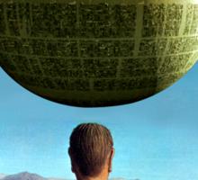 Death Star Magritte Sticker