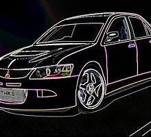 Mitsubishi lancer evolution  by mikeycrfc