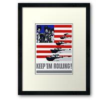 PT Boats -- Keep 'Em Rolling! Framed Print