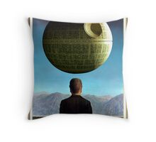 Death Star Magritte Throw Pillow