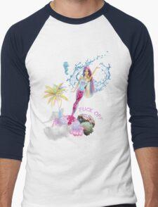 Mermaid Barbie - F*CK OFF Men's Baseball ¾ T-Shirt