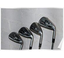 4 golf clubs Poster