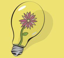 Flower in Lightbulb Kids Clothes