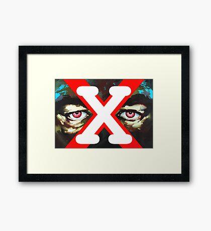 X Ray Eyes Framed Print