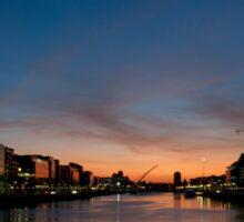 Dublin City Sunset Sticker