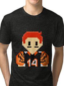 8Bit Andy Dalton NFL Tri-blend T-Shirt