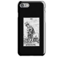 Strength Tarot Card - Major Arcana - fortune telling - occult iPhone Case/Skin