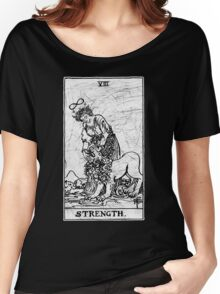 Strength Tarot Card - Major Arcana - fortune telling - occult Women's Relaxed Fit T-Shirt
