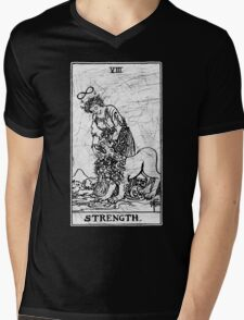 Strength Tarot Card - Major Arcana - fortune telling - occult Mens V-Neck T-Shirt