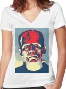 Boris Karloff in The Bride of Frankenstein Women's Fitted V-Neck T-Shirt
