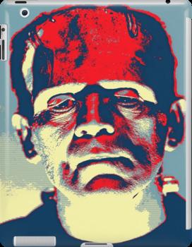 Boris Karloff in The Bride of Frankenstein by Art Cinema Gallery