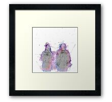 Partners In Crime Framed Print