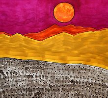 San Jacinto Moon original painting by CrowRisingMedia